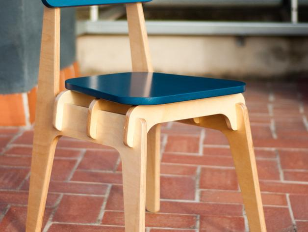 数控切割迷你椅子 3D模型  图5