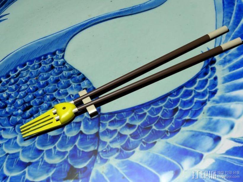 章鱼形筷子托架 3D模型  图4