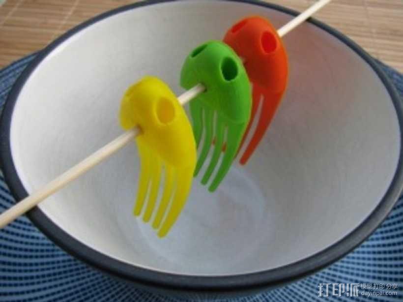章鱼形筷子托架 3D模型  图3