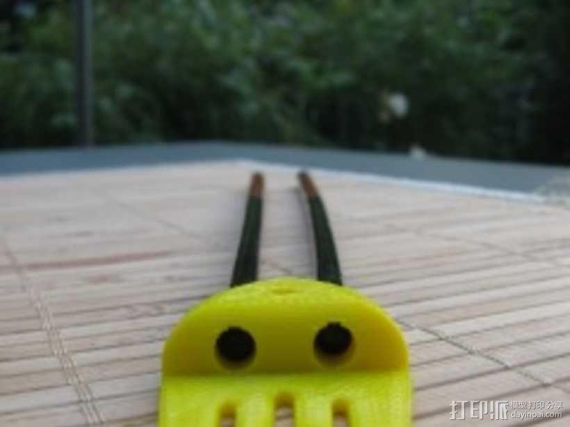 章鱼形筷子托架 3D模型  图9