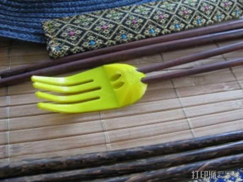 章鱼形筷子托架 3D模型  图16