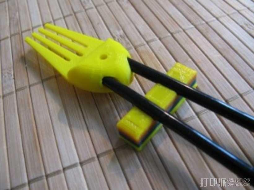 章鱼形筷子托架 3D模型  图17