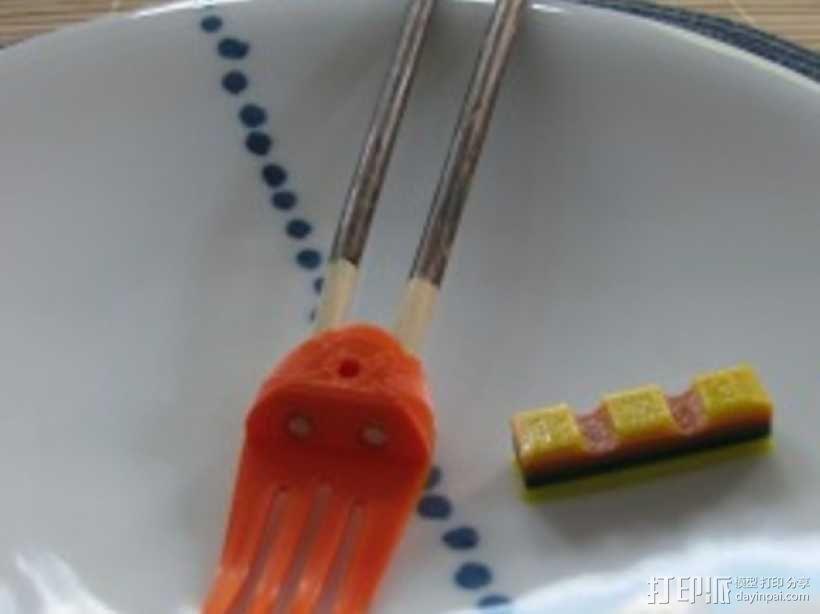 章鱼形筷子托架 3D模型  图20