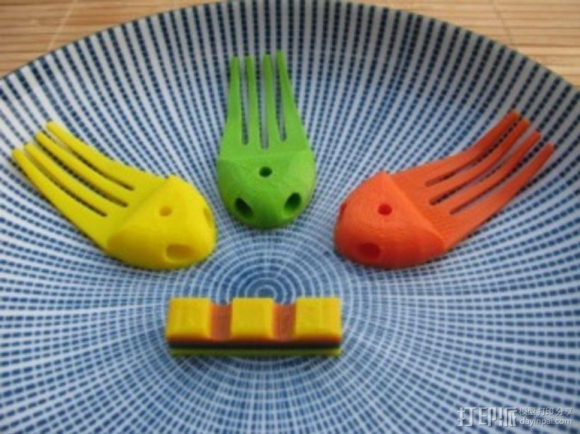 章鱼形筷子托架 3D模型  图23