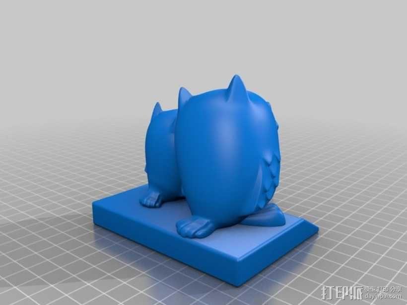 生日礼物:定制化猫头鹰 3D模型  图2