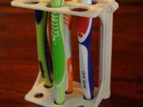 古典牙刷架 3D模型