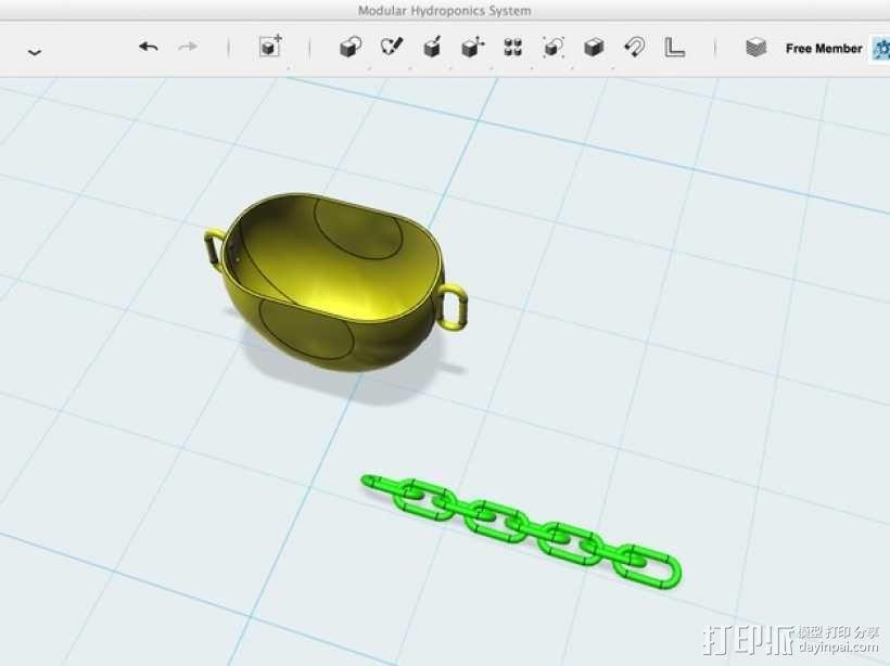 模块化水培系统 3D模型  图2