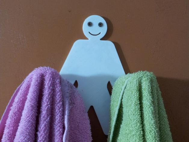人形毛巾架 3D模型  图4