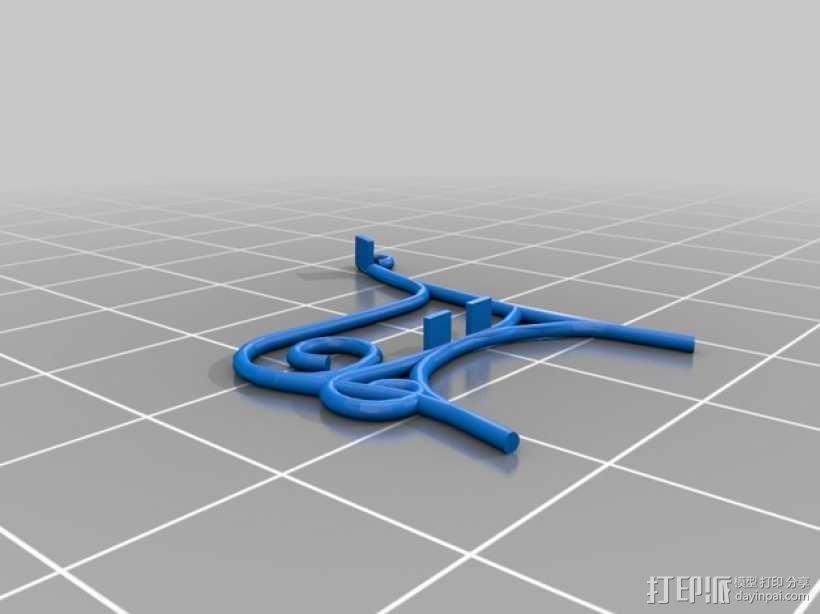 迷你户外长椅  3D模型  图3