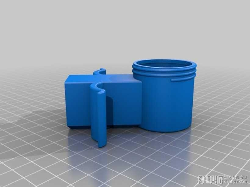 旋转式干酪刨丝器 3D模型  图4