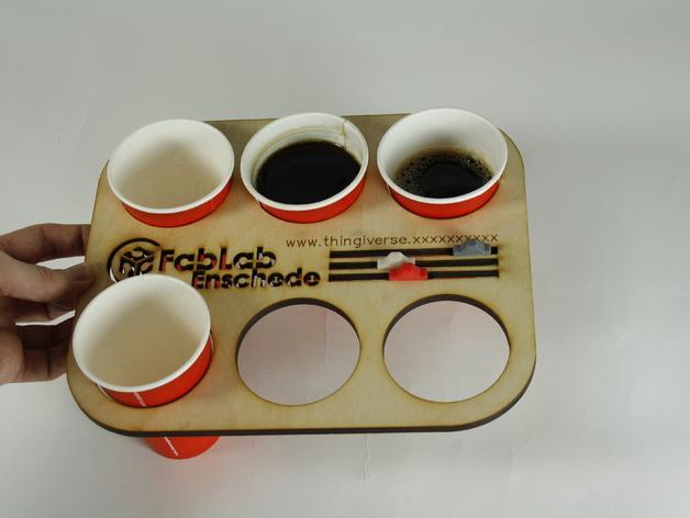 办公室咖啡托盘 3D模型  图3