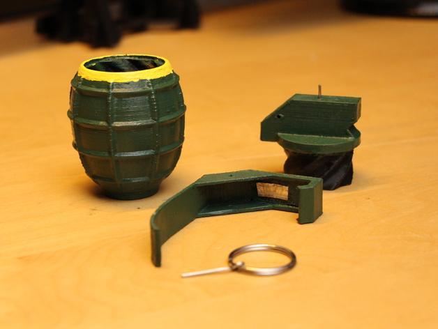 SHGR95手榴弹形容器 3D模型  图3