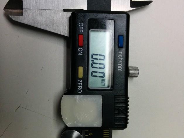 数字卡尺电池盖 3D模型  图1