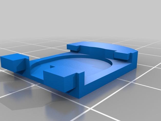 数字卡尺电池盖 3D模型  图4