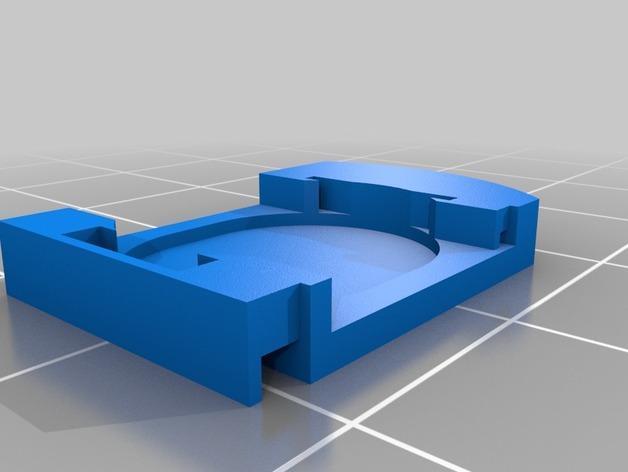 数字卡尺电池盖 3D模型  图3