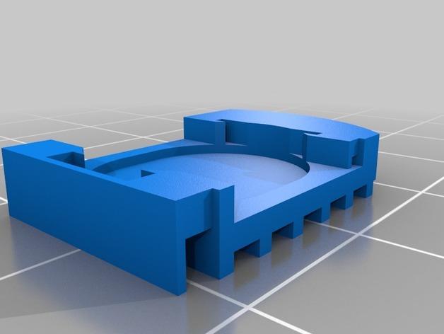 数字卡尺电池盖 3D模型  图2