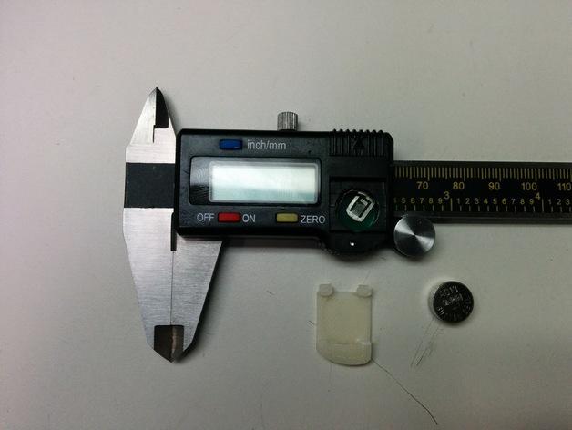 数字卡尺电池盖 3D模型  图6