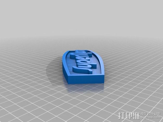 """""""超级妈妈""""磁铁 3D模型  图2"""