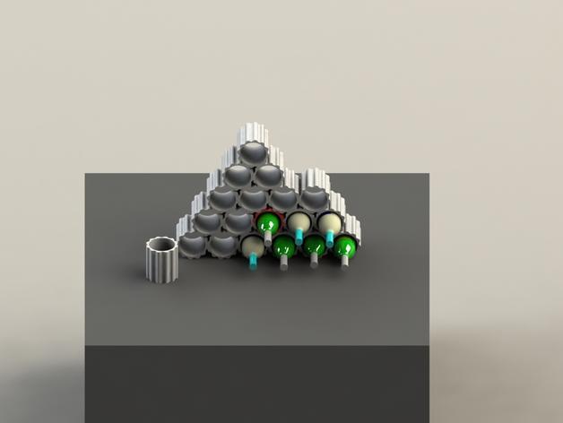 模块化葡萄酒架 3D模型  图4