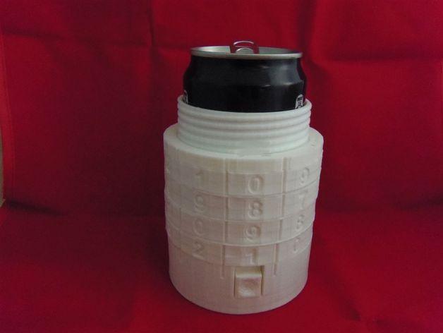 密码锁软饮料罐盒/存钱罐 3D模型  图2