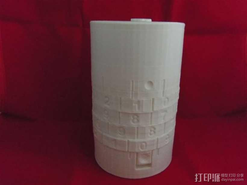 密码锁软饮料罐盒/存钱罐 3D模型  图1