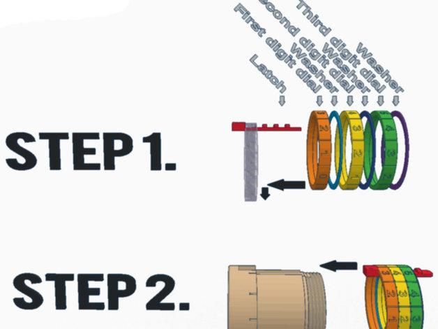密码锁软饮料罐盒/存钱罐 3D模型  图22