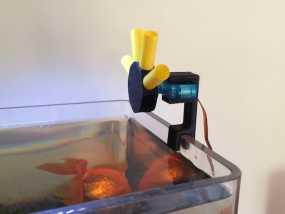 迷你简易喂鱼机 3D模型