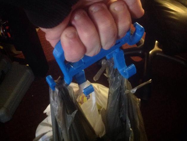 多功能购物袋手柄 3D模型  图1