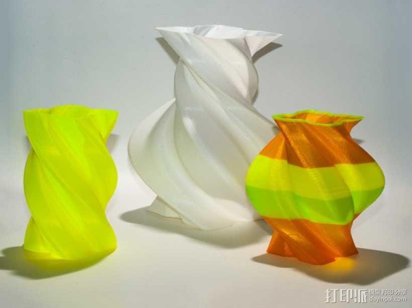 螺旋形花瓶 3D模型  图1