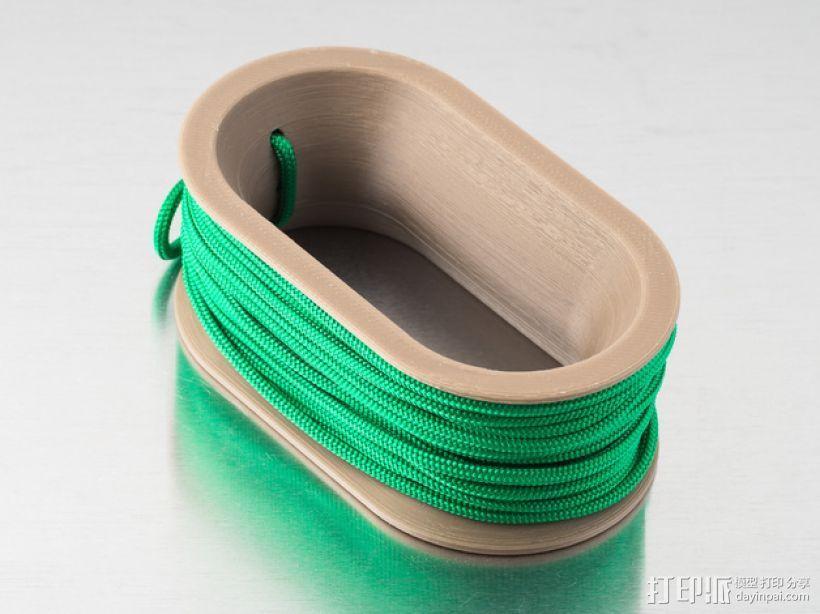 椭圆形线轴/把手 3D模型  图1