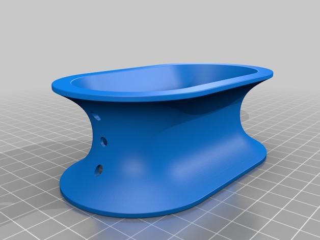 椭圆形线轴/把手 3D模型  图3