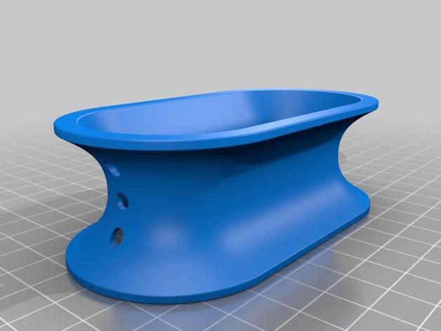 椭圆形线轴/把手 3D模型  图4
