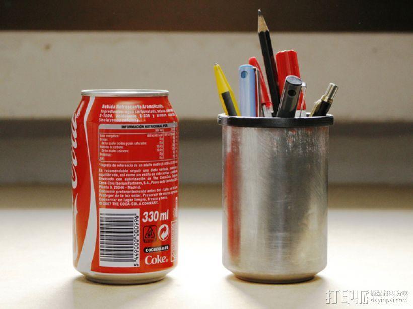易拉罐笔筒 3D模型  图1