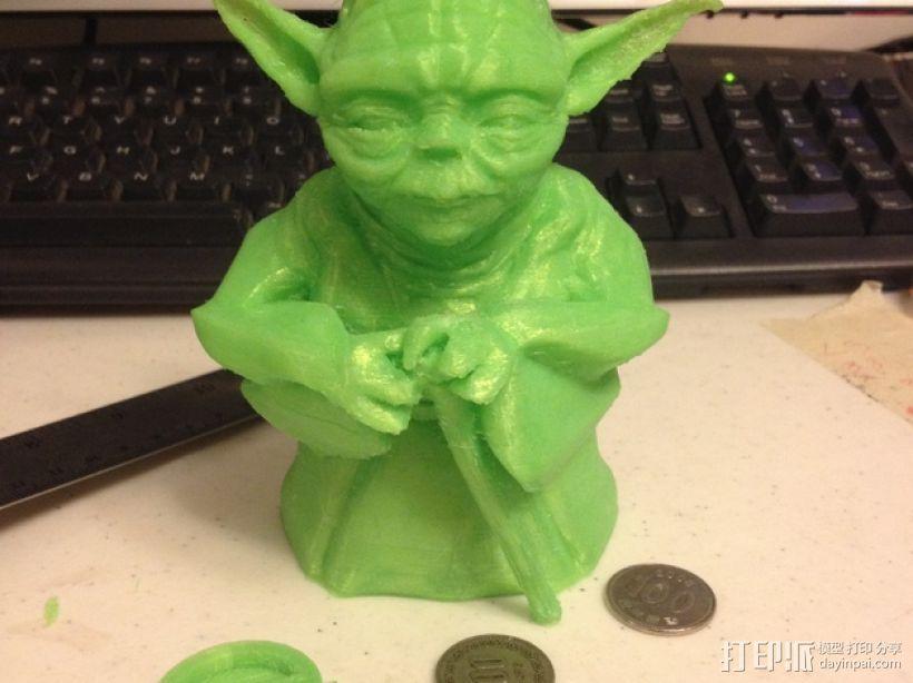 尤达大师存钱罐 3D模型  图1