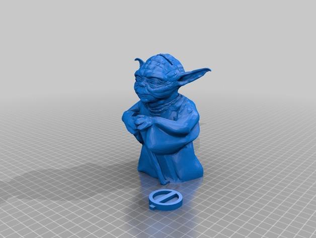 尤达大师存钱罐 3D模型  图5