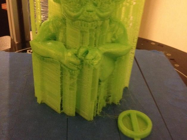 尤达大师存钱罐 3D模型  图4