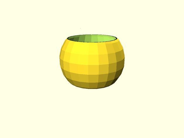 参数化球形花盆 3D模型  图2