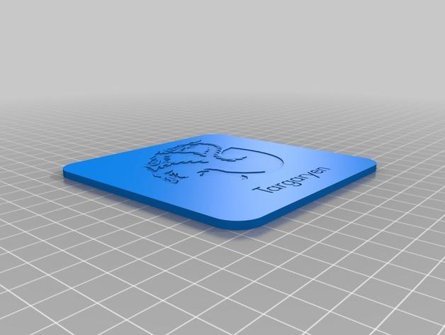 迷你饮料杯垫 3D模型  图6