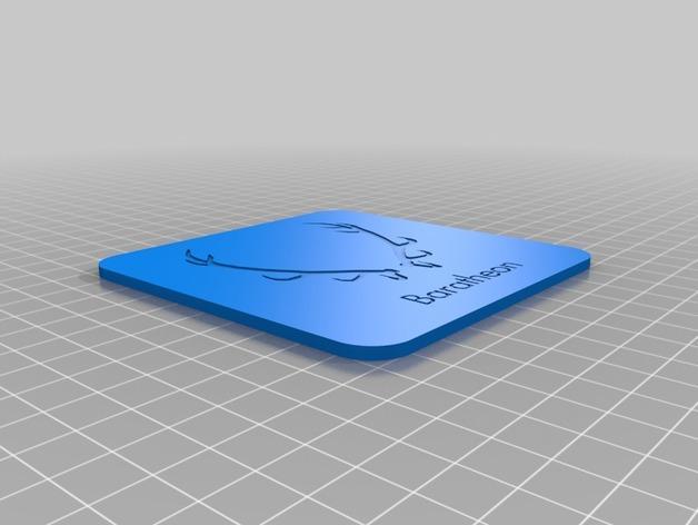迷你饮料杯垫 3D模型  图7