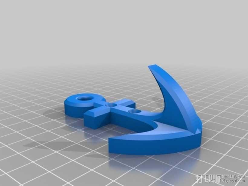 锚形挂钩 3D模型  图4