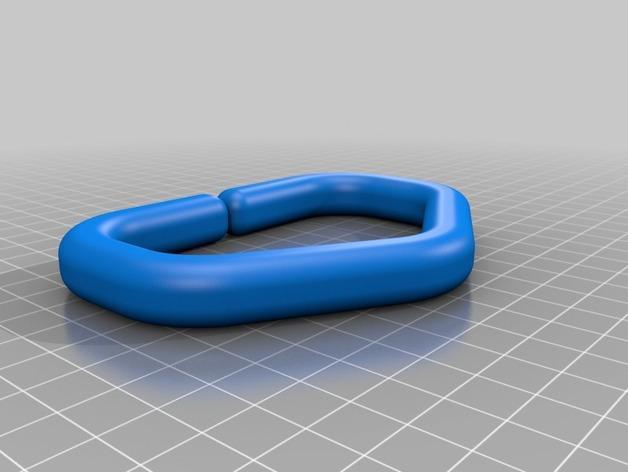 塑料购物袋夹袋器/把手 3D模型  图3