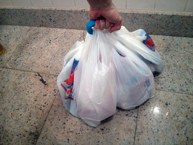 塑料购物袋夹袋器/把手 3D模型  图7