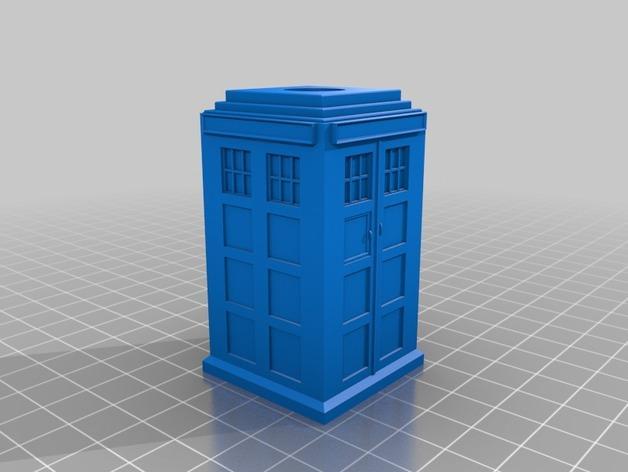 塔迪斯笔筒 3D模型  图1