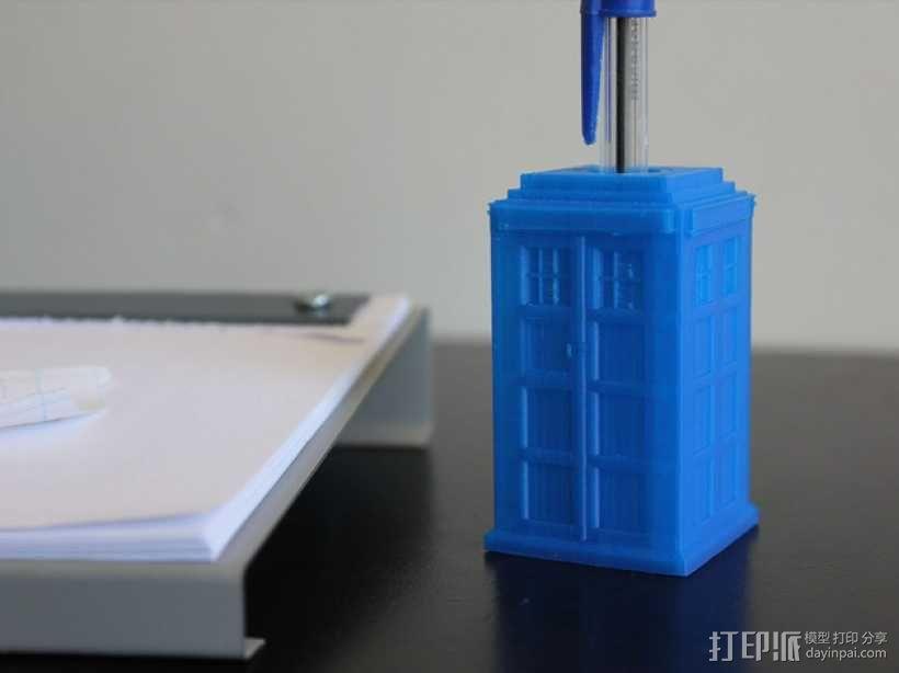 塔迪斯笔筒 3D模型  图2