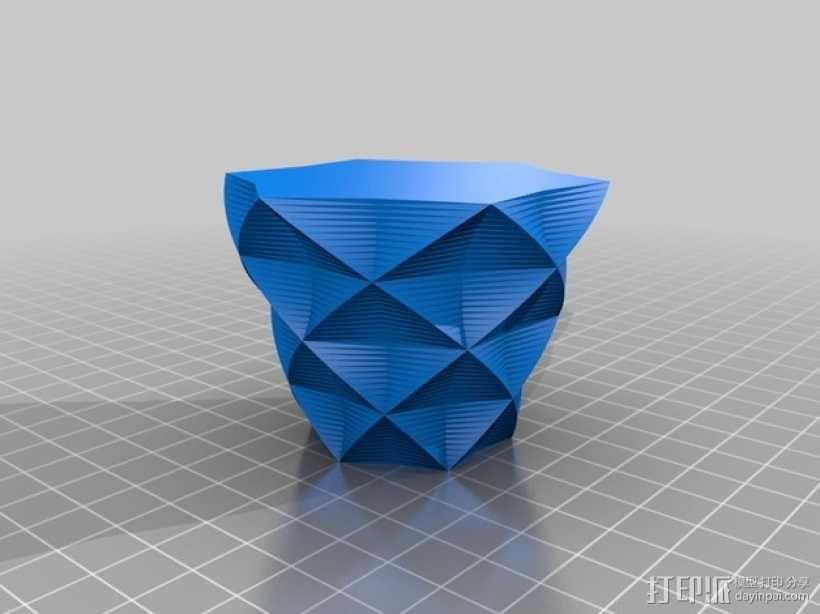定制化星形花瓶/笔筒 3D模型  图2
