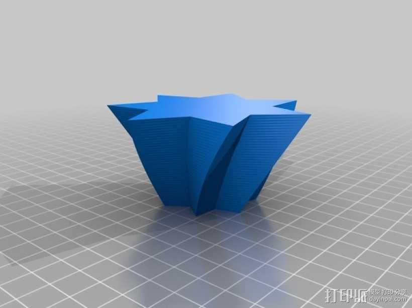 定制化星形花瓶/笔筒 3D模型  图4