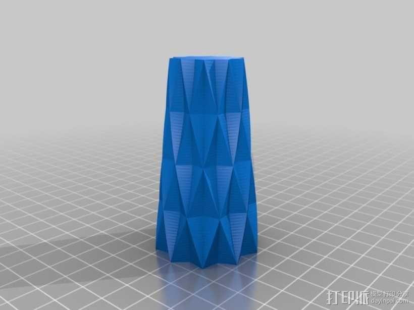 定制化星形花瓶/笔筒 3D模型  图3