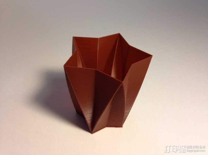 定制化星形花瓶/笔筒 3D模型  图5