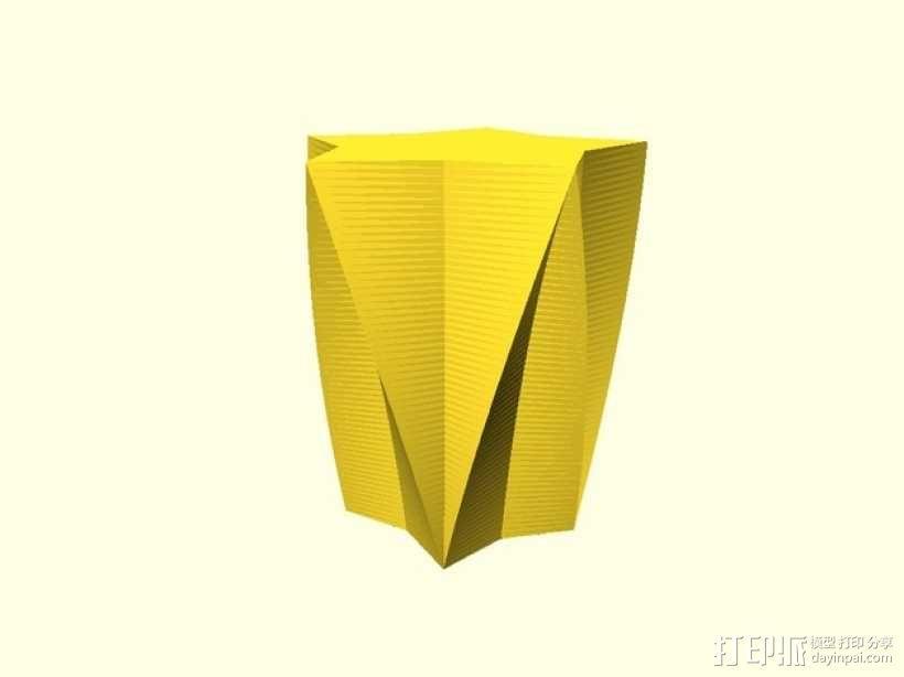 定制化星形花瓶/笔筒 3D模型  图8