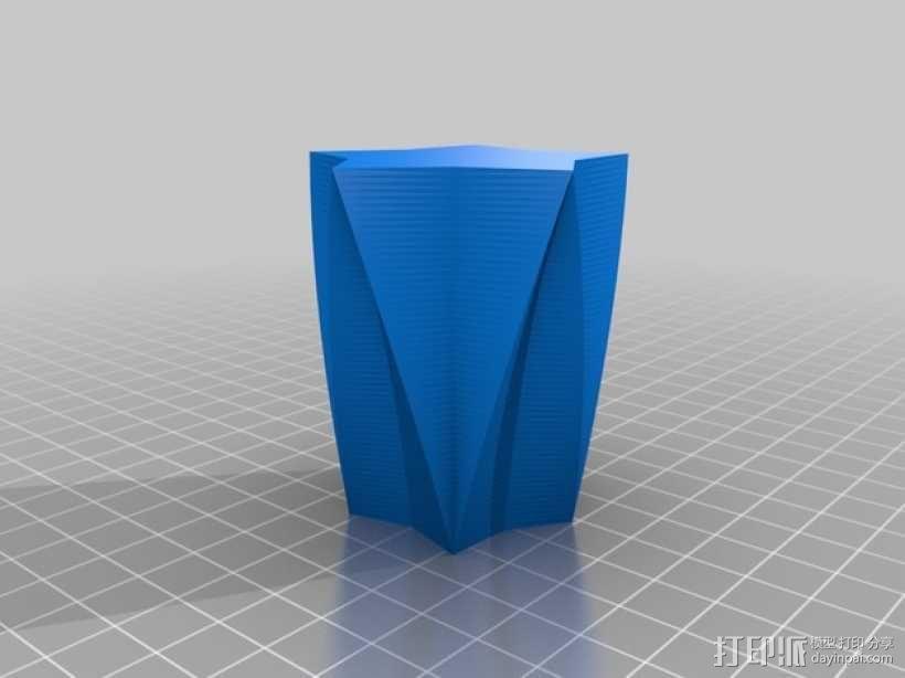 定制化星形花瓶/笔筒 3D模型  图7